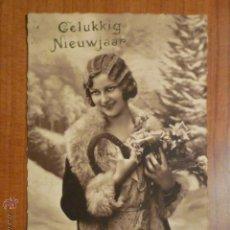 Postales: POSTAL ROMANTICA FRANCESA CIRCULADA AÑO 1934.. Lote 53683687