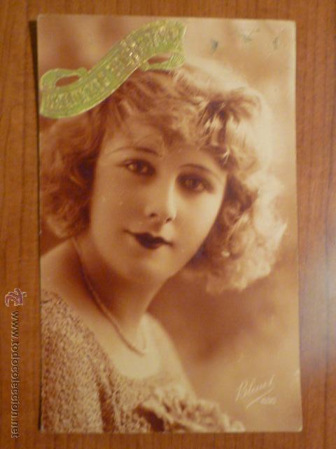 POSTAL ROMANTICA FRANCESA ED. BLEUEL 630. CIRCULADA. (Postales - Postales Temáticas - Galantes y Mujeres)