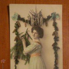 Postales: POSTAL ROMANTICA COLOREADA. CIRCULADA 1910. Lote 53684124