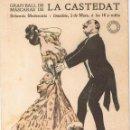 Postales: POSTAL GRAN BALL DE MASCARAS LA CASTEDAT. BOHEMIA MODERNISTA. CA. 1910. IMP. J. HORTA. SIN CIRCULAR. Lote 53889833