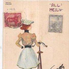Postales: TARJETA POSTAL DE RAPHAEL KIRCHNER.. Lote 53950687