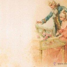 Postales: POSTAL PAREJA DE EPOCA TOCANDO EL PIANO. UNION POSTAL UNIVERSAL. SIN CIRCULAR. Lote 53956867