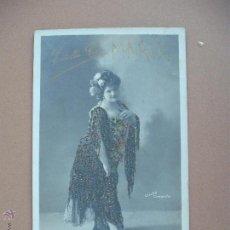 Postales: FOTOPOSTAL ESTRELLA GIL (DECORADA) (SOBRE 1900). Lote 54074722