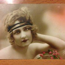 Postales: ANTIGUA POSTAL ROMÁNTICA MUJER BELLEZA ART DECO. Lote 54151228