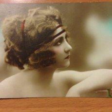 Postales: ANTIGUA POSTAL ROMÁNTICA MUJER BELLEZA ART DECO. Lote 54151234