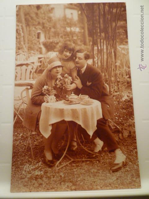 POSTAL ROMANTICA DE FAMILIA. ED. BLEUEL 935. ESCRITA. (Postales - Postales Temáticas - Galantes y Mujeres)