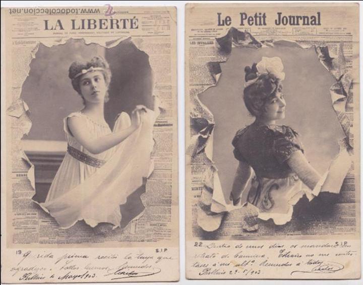 P- 4143. PAREJA DE POSTALES FRANCESAS Nº 19 Y 22 S.I.P. (Postales - Postales Temáticas - Galantes y Mujeres)