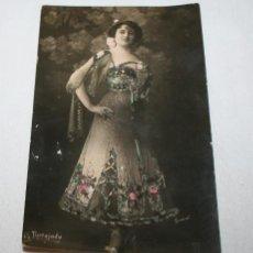 Postales: POSTAL ANTIGUA DE LA ACTRIZ Y CUPLETISTA AMPARO TAMAYO LA TORTAJADA, HACIA 1900, SIN CIRCULAR. Lote 54749611