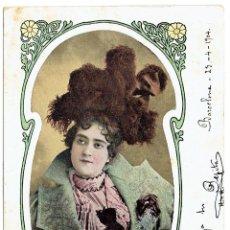 Postales: PS6083 POSTAL DE LA ACTRIZ TEATRAL BEATRIZ FRANCO. ESPAÑA. 1904. Lote 52535563