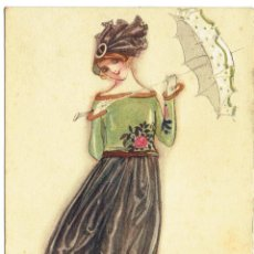 Postales: PS6422 POSTAL FEMENINA ILUSTRADA POR MAUZAN. ITALIA. CIRCULADA. 1918. Lote 54930596