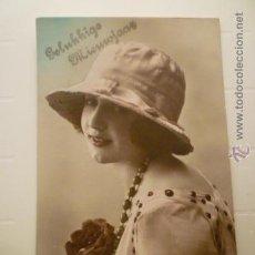 Postales: POSTAL ROMANTICA COLOREADA. ED. ROTO 5052. CIRCULADA 1921.. Lote 54949485