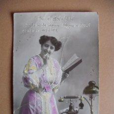 Postales: CONCHITA LEDESMA, EL TELEFONO - SERIE COMPLETA DE 10 POSTALES 1900. Lote 55025880