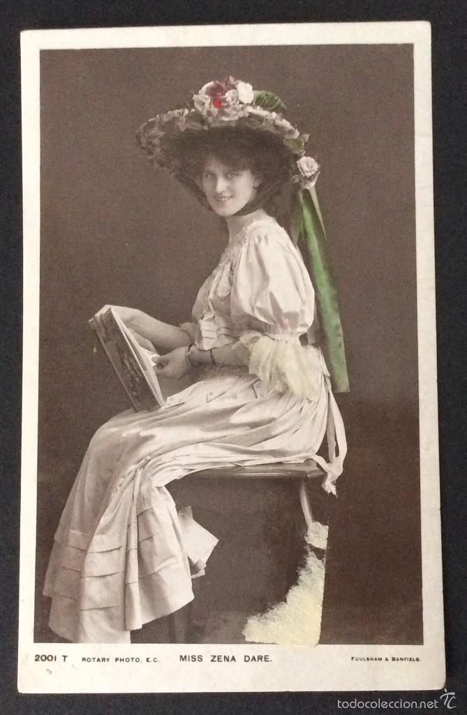 POSTAL FOTOGRÁFICA MISS ZENA DARE. (Postales - Postales Temáticas - Galantes y Mujeres)