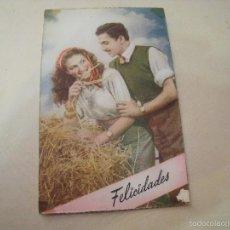 Postales: PAREJA FELICIDADES. Lote 56293268