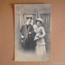 Postales: POSTAL, FOTOGRAFICA,PAREJA DE ENAMORADOS,1911. Lote 56970804