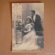 Postales: POSTAL, FOTOGRAFICA,PAREJA DE ENAMORADOS,1911. Lote 56970828