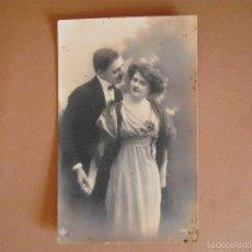 Postales: POSTAL, FOTOGRAFICA,PAREJA DE ENAMORADOS,1911. Lote 56970855