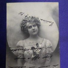 Postales: ANTIGUA POSTAL. MUJER. CIRCULADA. AÑO 1911. Lote 57056455