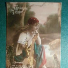 Postales: ANTIGUA POSTAL - 392/2 TRISTEZAS DE AMOR -DUMMATZEN - PRINCIPIOS DE 1900 - COLOREADA -. Lote 57756633