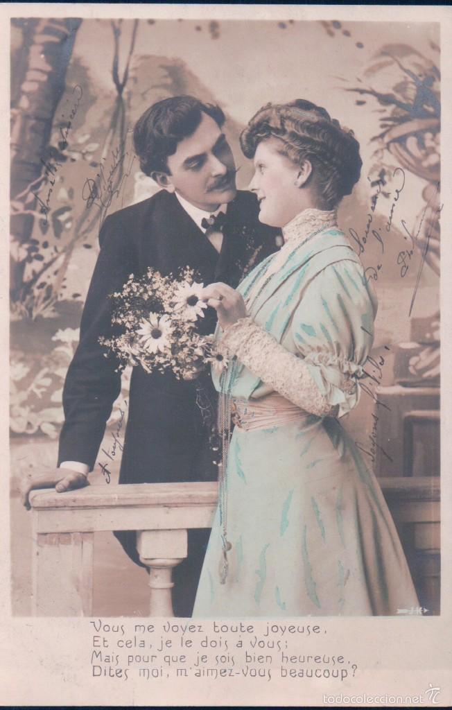 postal antigua pareja de enamorados j k comprar postales antiguas