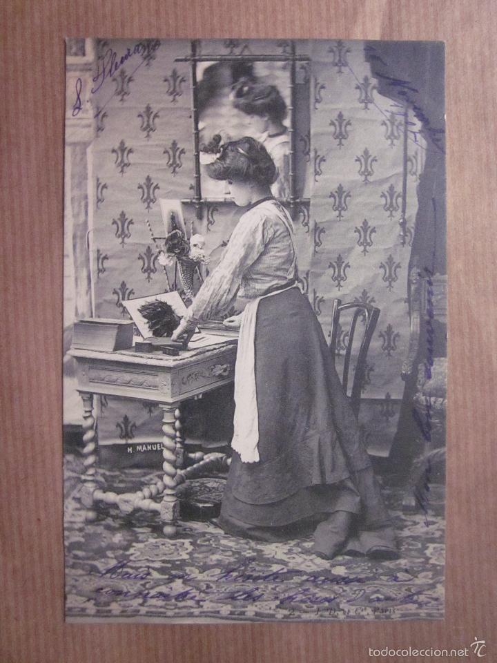 postal señora ayudando labores de la casa. h. m - Comprar Postales ...