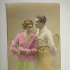 Postales: POSTAL ROMANTICA DE PAREJA. ED. MARGARA 469. ESCRITA 1922.. Lote 58647568