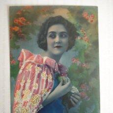 Postales: POSTAL ROMANTICA COLOREADA. ED. BLEUEL PARIS 354. SIN ESCRIBIR.. Lote 58651197