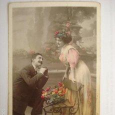 Postales: POSTAL ROMANTICA DE PAREJA. MARQUE ETOILE. VBC SERIE 3594. ESCRITA 1909.. Lote 58665872