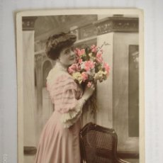 Postales: POSTAL ROMANTICA DE PAREJA. MARQUE ETOILE. VBC SERIE 3410. ESCRITA 1910.. Lote 58665974