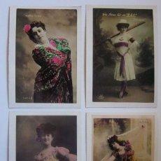 Postales: 4 POSTALES ARTISTAS FEMENINAS. Lote 59120315