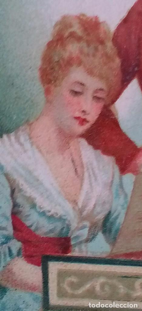 POSTAL ROMÁNTICA TROQUELADA (Postales - Postales Temáticas - Galantes y Mujeres)