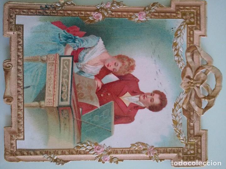 Postales: Postal romántica troquelada - Foto 2 - 61911028