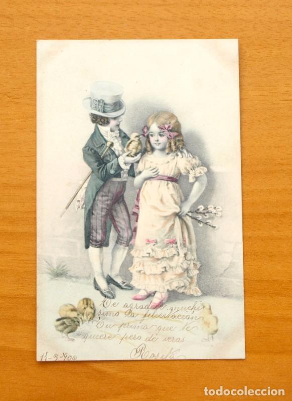 POSTAL ILUSTRADA - CIRCULADA EN 1906 (Postales - Postales Temáticas - Galantes y Mujeres)