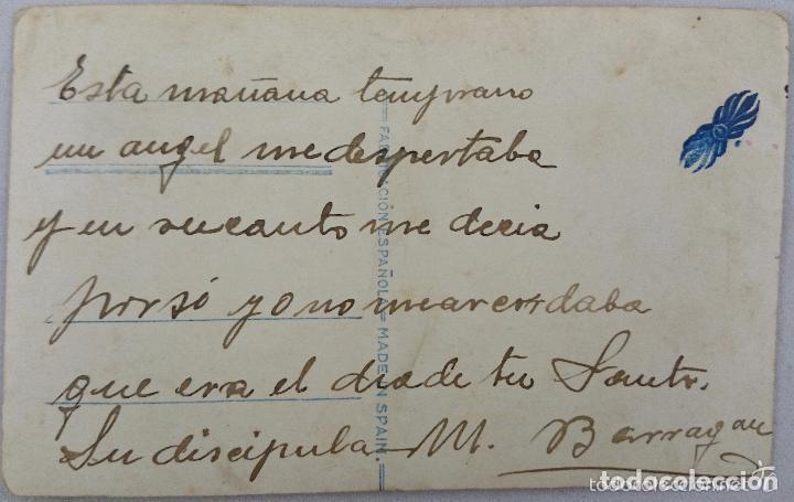 Postales: POSTAL ANTIGUA COLOREADA. PAREJA CON FLORES AMARILLAS. Nº 728. PRINICIPIOS SIGLO XX - Foto 2 - 62393288