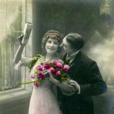 Postales: POSTAL ROMÁNTICA COLOREADA, 1913. Lote 63696727