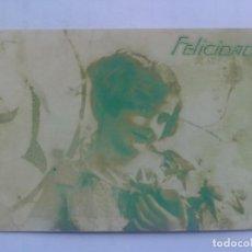 Postales: POSTAL FELICITACION, ESCRITA 1929. Lote 66103866