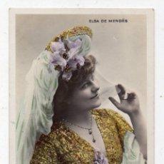 Postales: ELSA DE MENDES. FRANQUEADA EL 16 DE DICIEMBRE DE 1904.. Lote 71158909