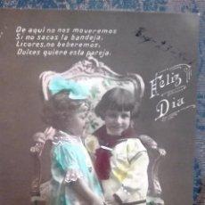 Postales: ANTIGUA TARJETA POSTAL. NIÑOS. PRINCIPIOS DEL SIGLO XX. Lote 71216593