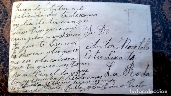 Postales: Antigua tarjeta postal. Niños y hombre. Principios del siglo XX - Foto 2 - 71218105