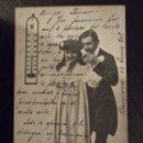Postales: POSTAL ANTIGUA 1905 - 15 DEGRES - TAILLE DOUCE - PAREJA ACARAMELADA - CIRCULADA. Lote 73042599