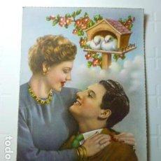 Postales: POSTAL COLOREADA ROMANTICA DE PAREJA. SIN ESCRIBIR.. Lote 73711471
