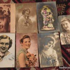 Postales: 7 POSTALES MUJERES AÑOS 30/40. Lote 74688059
