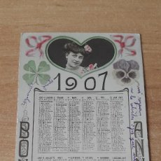 Postales: POSTAL - CALENDARIO ROMÁNTICO (CHICA) AÑO 1907 - VER FOTO ADICIONAL. Lote 74948539