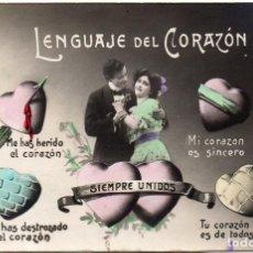 Postales: PS7401 LENGUAJE DEL CORAZÓN. POSTAL FOTOGRÁFICA. CIRCULADA. 1913. Lote 75605387