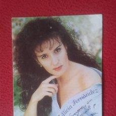 Postales: POSTAL POST CARD DE ALICIA FERNANDEZ CON DEDICATORIA Y FIRMA AUTOGRAFO PERLITA HUELVA CANTANTE VER F. Lote 75802995