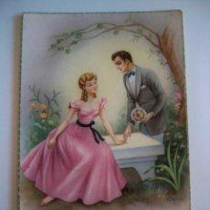 Postales: POSTAL PAREJA ROMANTICA - AÑOS 50. Lote 75903831