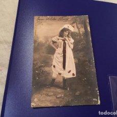 Postales: ANTIQUÍSIMA TARJETA POSTAL COLOREADA - SEÑORITA - ESCRITA. Lote 77670453
