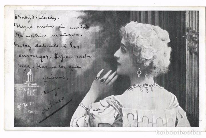 ANTIGUA POSTAL ITALIANA LF&C - CIRCULADA 1904 - REVERSO SIN DIVIDIR (Postales - Postales Temáticas - Galantes y Mujeres)