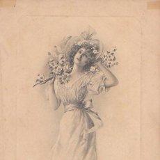 Postales: POSTAL ROMANTICA Nº 1292, CIRCULADA EN ESPAÑA EN 1907. Lote 79787345