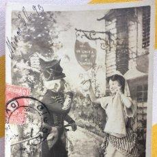 Postales: POSTAL LE BILLET DE LOGEMENT TEATRO 1903 MILITAR FRANCES GIJÓN DISEÑO H.MANUEL S.I.P65 SERIE10. Lote 82030432